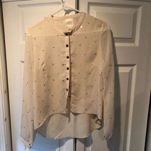 Cute sequin embellished blouse!
